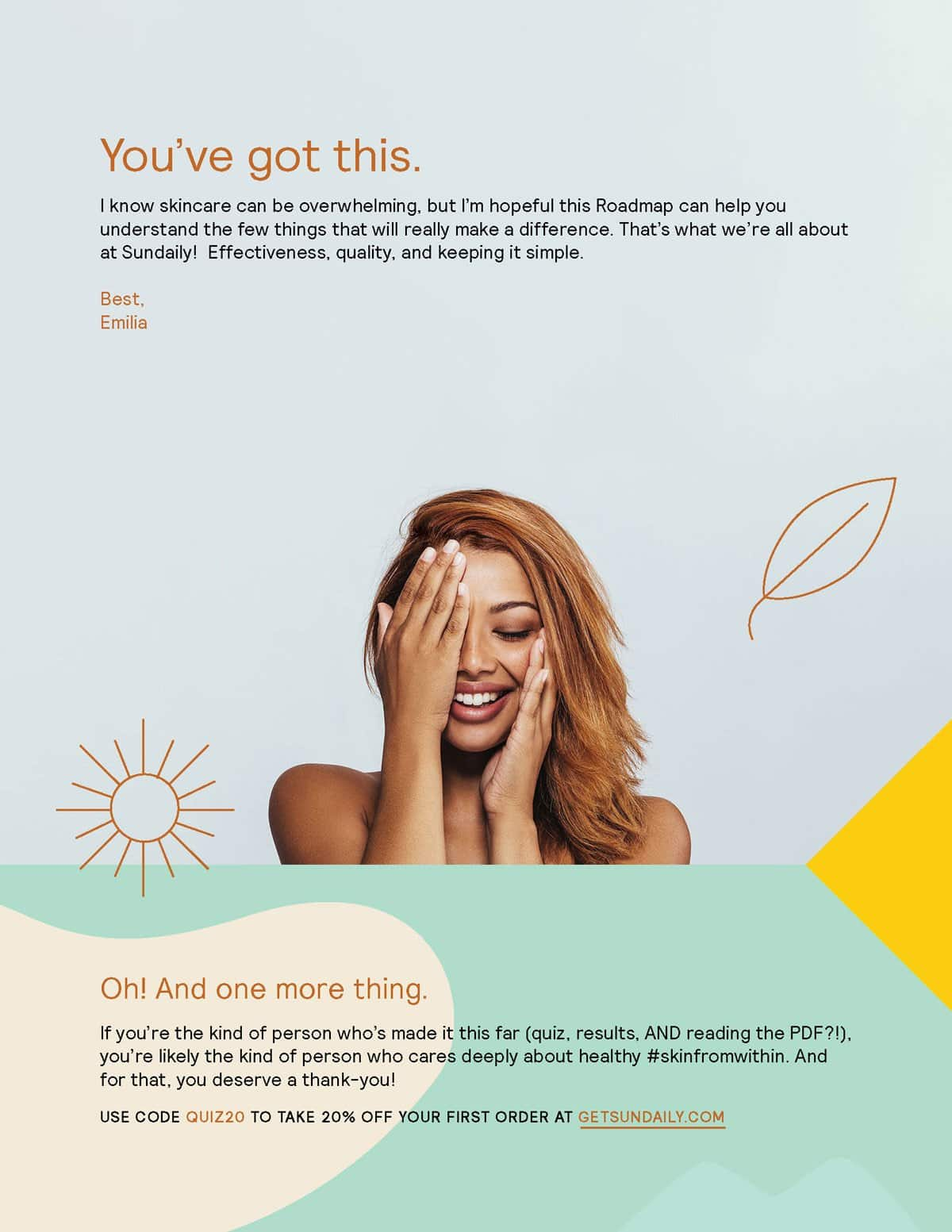Downloadable content for skincare company, Sundaily